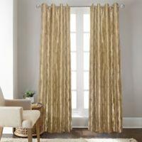 Fresno 108-Inch Grommet Top Window Curtain Panel in Gold