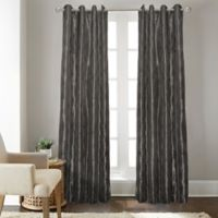 Fresno 63-Inch Grommet Top Window Curtain Panel in Charcoal