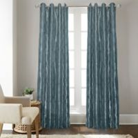 Fresno 84-Inch Grommet Top Window Curtain Panel in Blue