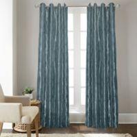 Fresno 108-Inch Grommet Top Window Curtain Panel in Blue