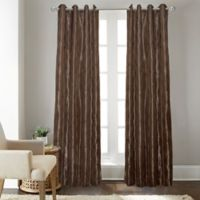 Fresno 108-Inch Grommet Top Window Curtain Panel in Chocolate