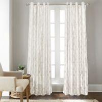 Fresno 63-Inch Grommet Top Window Curtain Panel in White
