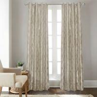 Fresno 108-Inch Grommet Top Window Curtain Panel in Platinum