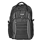 Kenneth Cole Triple Compartment EZ-Scan Computer Backpack in Black