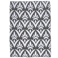 Sleeping Partners Damask Knit Throw Blanket in Grey