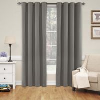 SolarShield® Naomi 108-Inch Grommet Top Blackout Window Curtain Panel in Smoke