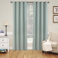 SolarShield® Naomi 108-Inch Grommet Top Blackout Window Curtain Panel in Smokey Blue