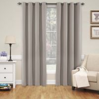 SolarShield® Naomi 108-Inch Grommet Top Blackout Window Curtain Panel in Linen