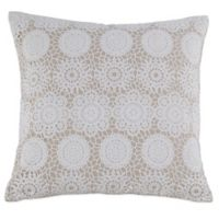 Kensia Laramie 20-Inch Square Throw Pillow in Taupe