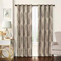 Solar Shield® Balencia 95-Inch Grommet Room Darkening Window Curtain Panel in Taupe
