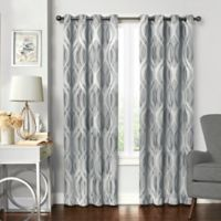 Solar Shield® Balencia 95-Inch Grommet Room Darkening Window Curtain Panel in Silver