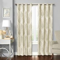 Solar Shield® Balencia 108-Inch Grommet Room Darkening Window Curtain Panel in Ivory