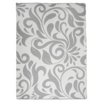 Sleeping Partners Swirl Vine Knit Throw Blanket in Grey