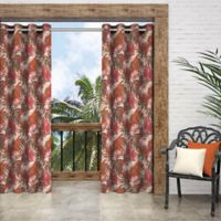 Parasol Key Biscayne 84-Inch Grommet Indoor/Outdoor Window Curtain Panel in Chili