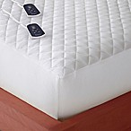 Micro Flannel® Queen Electric Mattress Pad in White