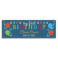 First Birthday Personalized Banner in Blue
