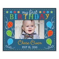 First Birthday Personalized Frame in Blue