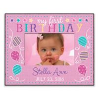 First Birthday Personalized Frame in Pink
