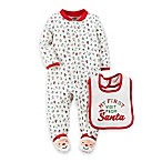 carter's® Size 6M  My First Visit from Santa  Sleep & Play Footie with Bib