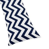 Sweet Jojo Designs Chevron Body Pillowcase in Navy/White