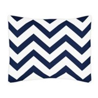 Sweet Jojo Designs Chevron Pillow Sham in Navy/White