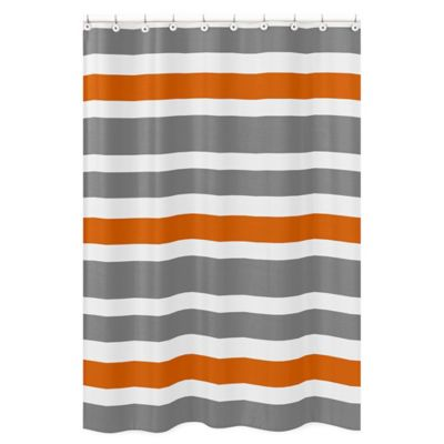 Curtains Ideas brown white striped curtains : Buy Grey and White Striped Curtains from Bed Bath & Beyond