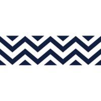 Sweet Jojo Designs Chevron Wallpaper Border in Navy/White