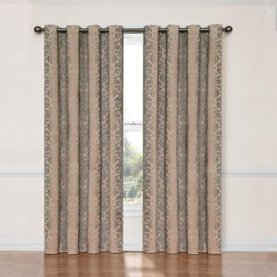 SolarShield® Naomi 108 Inch Blackout Window Curtain Panel In Linen