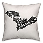 Halloween Watercolor Bat 18-Inch Square  Throw Pillow