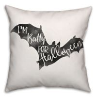 Halloween Watercolor Bat 16-Inch Square Throw Pillow