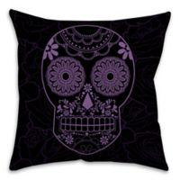 Halloween Candy Skull 16-Inch Throw Pillow