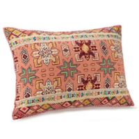 Jessica Simpson Tika Standard Pillow Sham in Coral/Red