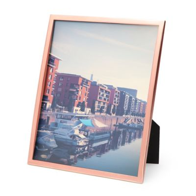 umbra senza 8 inch x 10 inch picture frame in copper