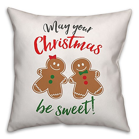 Gingerbread Holiday Pals Square Throw Pillow - Bed Bath & Beyond