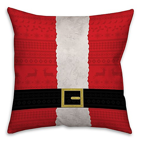 Santa Suit Square Throw Pillow