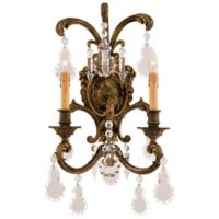Metropolitan® Family Collection 2-Light Wall Sconce in Oxide Brass