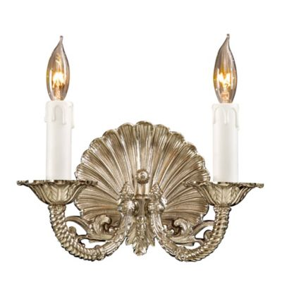 Metropolitan® Family Collection 2 Light Wall Sconce In Polished Chrome W/  Lost Wax