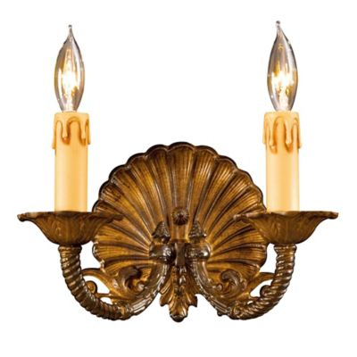 family collection 2light wall sconce in antique bronze w lost wax