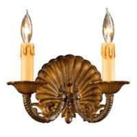 Metropolitan® Family Collection 2-Light Wall Sconce in Antique Bronze w/ Lost Wax Cast Arms