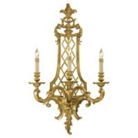 Metropolitan® Family Collection 3-Light 38.25-Inch Wall Sconce in French Gold