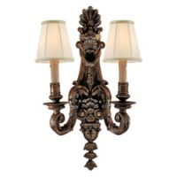 Metropolitan® Family Collection 2-Light 22.5-Inch Wall Bracket in Flemish Brass™