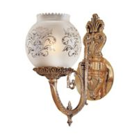 Metropolitan Home 1-Light Wall Sconce in Brass with Glass Shade