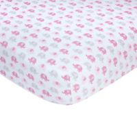 carter's® Elephant Sateen Fitted Crib Sheet in Pink
