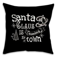 Christmas Chalk Typography 16-Inch Square Throw Pillow
