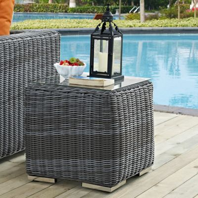 Buy Outdoor Side Table From Bed Bath Beyond - Gray wicker coffee table