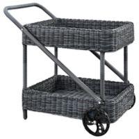 Modway Summon Outdoor Patio Beverage Cart in Grey