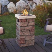 "Real Flame® Sedona 32"" Fire Column in Stone"