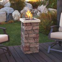 "Real Flame® Sedona 37"" Fire Column in Stone"