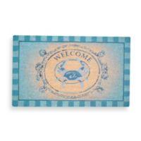 18-Inch x 30-Inch Blue Crab Welcome Door Mat