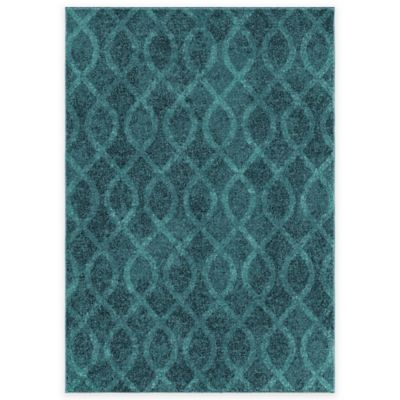 Aria Rugs Melodic Tour de Loops Area Rug in Aqua - Buy Aqua Area Rugs From Bed Bath & Beyond